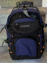 High Sierra wheeled back pack with zip off day pack. in Beaufort, South Carolina
