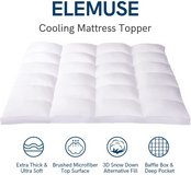 Pillowtop Cooling Mattress Topper - King Size - New! in Aurora, Illinois