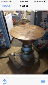 Homemade dog  grooming table mounted on barber chair in Aurora, Illinois