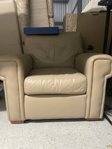Full leather collection love seat couch chair in Aurora, Illinois