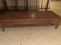 Mid-century long coffee table … needs your TLC in Aurora, Illinois