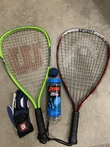 Racquetball Rackets + Bag + Balls + Glove in Glendale Heights, Illinois