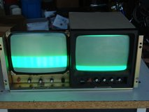 """A PAIR OF 9 """" COLOR MONITORS IS A RACK MOUNT FRAME in Aurora, Illinois"""