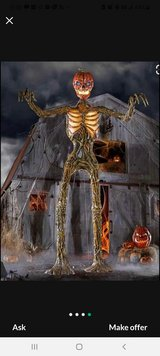 12 ft Inferno Pumpkin Skeleton with LED eyes in Brookfield, Wisconsin