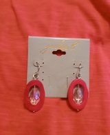 Jules B Pink with Crystal Center Earrings in Camp Lejeune, North Carolina