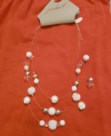 Jules B. White and Silver Illusion Necklace in Camp Lejeune, North Carolina