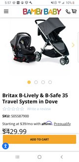 Britax car seat and stroller travel system in Beaufort, South Carolina
