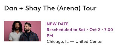 Dan and Shay Tickets (4) in Chicago, Illinois