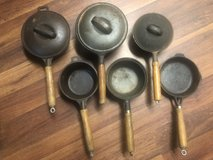 6 Cast Iron with Wood Handles See Details in Elizabethtown, Kentucky