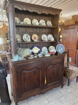 rustic country house hutch with plate board in Spangdahlem, Germany
