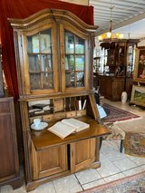 solid oak secretary desk with display section in Spangdahlem, Germany