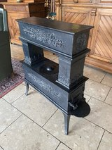 cast iron stove for decoration in Spangdahlem, Germany