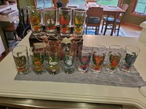 Vintage American Glass by Indiana Glass 12 Days of Christmas Glasses - New Old Stock in Brookfield, Wisconsin