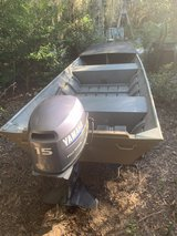 Jon boat 14ft with 2003 15hp Yamaha 4 stroke with a trailer in Beaufort, South Carolina
