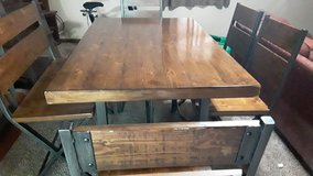 barn style table/chairs and bench in Fort Campbell, Kentucky