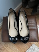 Coach Black patent leather wedge sandals…new markdown!!! in Fort Belvoir, Virginia