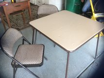 Card Table with 2 Chairs in Beaufort, South Carolina