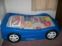 Little Tikes Tykes Blue Race Car Bed Toddler Size in Westmont, Illinois