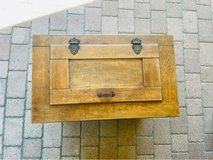 Antique Wooden Ice Box with Galvanized Metal Liner in Spring, Texas