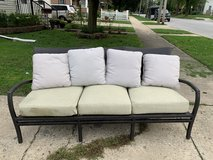 Outdoor patio sofa 3 seat with cover in Chicago, Illinois