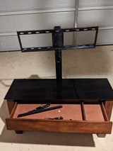 Mounted TV stand in Lackland AFB, Texas