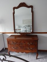 Beautiful Davis Cabinet Co Solid Wood Console Chest of Drawers Dresser & Mirror-GREAT DEAL!! in Joliet, Illinois