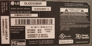 LG OLED 55 TELEVISION, NOT WORKING FOR PARTS in Westmont, Illinois