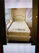 Girl's bed frame, mattress and side table. in Lakenheath, UK