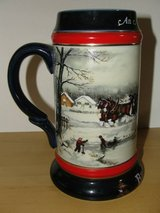 1990 BUDWEISER Collectible Christmas Beer Stein in Camp Pendleton, California