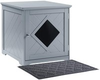 Cat Litter Box End Table Nightstand - Gray - New! in Joliet, Illinois