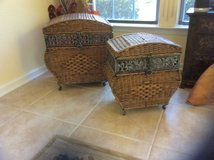Unique Pair of Wicker Baskets in Beaufort, South Carolina
