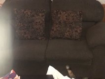 Loveseat chair and large ottoman chest in Fort Riley, Kansas