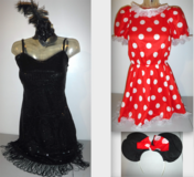 Flapper Girl -OR- Minnie Mouse Halloween Adult Costume SM/Med in Joliet, Illinois