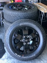 2020 Ford Ranger OEM Black Rims and tires X4 with lugnuts in Fort Hood, Texas