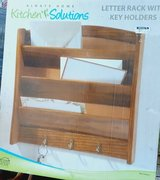 Wooden Mail caddy and key rack in Kingwood, Texas
