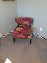 Flowered chair in 29 Palms, California