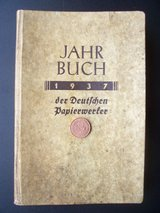 1937 Year Book (JAHR BUCH): The German Paper Producers in Mannheim, GE