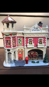 Lemax Lighted Glass Fire Station House (Christmas) in Westmont, Illinois