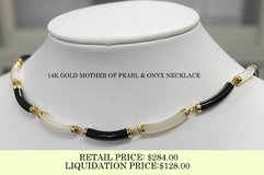 14K GOLD JADE/LAPIS/MOTHER OF PEARL/ONYX NECKLACES in Okinawa, Japan