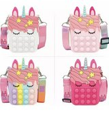 Unicorn kids shoulder bag purse pop it silicone in Glendale Heights, Illinois