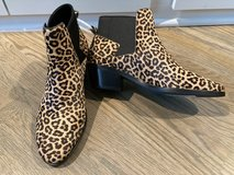 New! Cole Haan Gia Leopard Calf Hair Chelsea Booties Sz 7.5 in Glendale Heights, Illinois