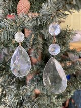Large Faceted Teardrop Crystals in Spring, Texas