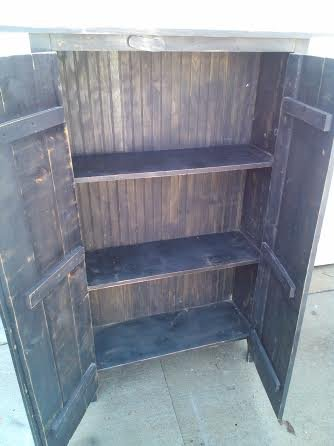 Pantry Cabinet: Amish Pantry Cabinet with Solid Wood Amish ...