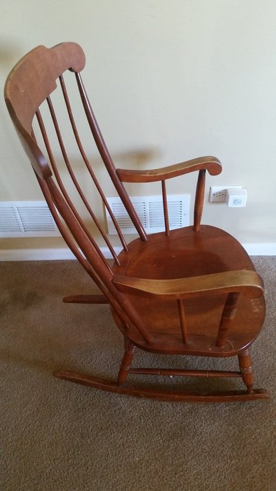 Nichols & Stone 1946-1949 All American - Rocking Chair, Antique - solid - Nichols & Stone 1946-1949 All American - Rocking Chair, Antique