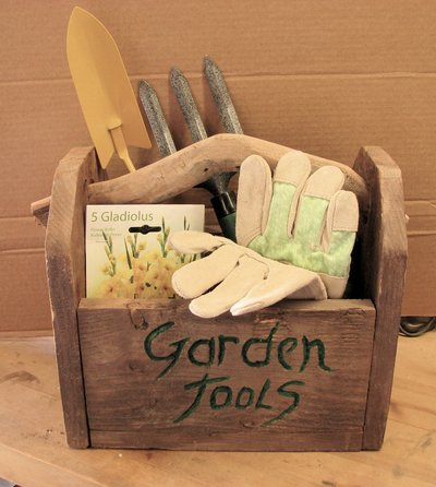 Ordinaire Handmade Garden Tool Box With Garden Tools, Seeds, And Gloves #2 In Yucca