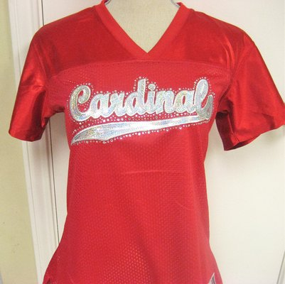 best sneakers 62426 f3ea2 NWOT Cardinals Arizona St Louis Red Women's Lg Fitted Jersey ...