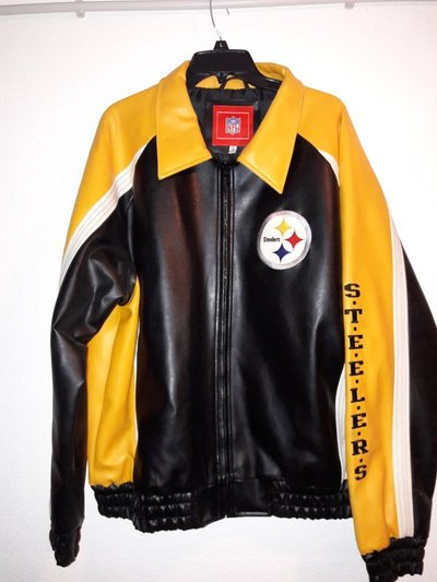 newest collection fe8a5 83d7b Original NFL Pittsburg steelers leather jacket | Clothing ...
