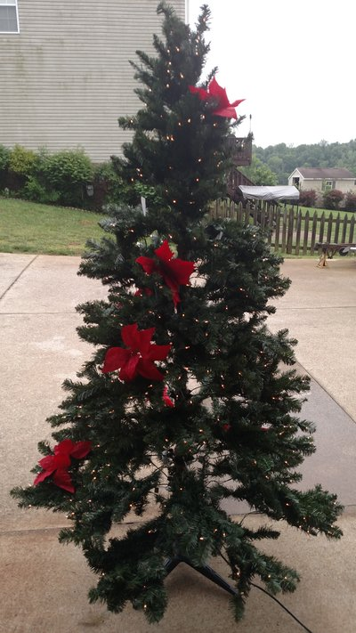 Holiday Time Christmas Tree.Holiday Time Pre Lit 7 Duncan Christmas Tree Green Clear
