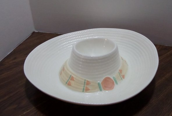 Vintage Treasure Craft Sombrero Chip And Dip Bowl Household For