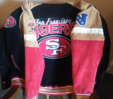 check out df1e2 7aa5d New! NFL 49ers Suede/Leather Jacket sz L | Clothing: Men for ...